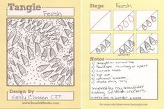 MomZenArtist: My new tangle: Feesh by Emily Classon, Certified Zentangle Teacher