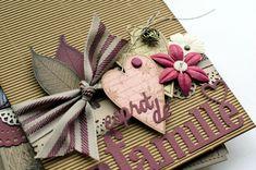 """Mini album """"Une famille en hiver"""" ... - Le Scrap de Patmiaou Mini Album Scrapbook, Mini Albums Scrap, Tampons, Mini Books, Tim Holtz, Scrapbooking, Embellishments, Paper Crafts, Gift Wrapping"""