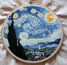 Embroidered Starry Night