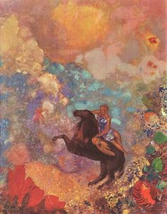 Artist: Odilon Redon Title: Muse of Pegasus - 1900