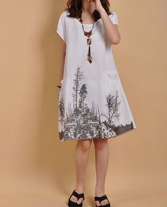 Hey, I found this really awesome Etsy listing at https://www.etsy.com/listing/163989995/white-linen-dress-cotton-dress-casual