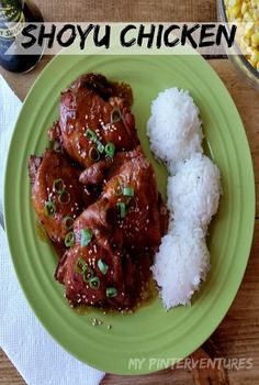 Shoyu Chicken- a Hawaiian island favorite meal. Super easy and quick to make. My Auntie Phyllis made this at least once a week! Hawaiian Dishes, Hawaiian Recipes, Ono Hawaiian Food, Hawiian Food, Hawaiian Luau, Asian Recipes, Healthy Recipes, Ethnic Recipes, Mexican Recipes