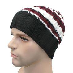 17c080a43eb Winter Unisex Women Men Knit Ski Hat For Outdoor Sport Material   LinenFeature  ThermalModel Number  Type  StripedGender  Men