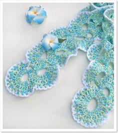 Sea Shells. Crochet Scarf Free Pattern for Kids & Women | My Little CityGirl