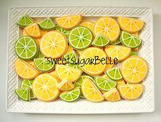 lemons, fruit, lime cooki, decorating ideas, lemon lime, decorated sugar cookies, blog, limes, decor cooki