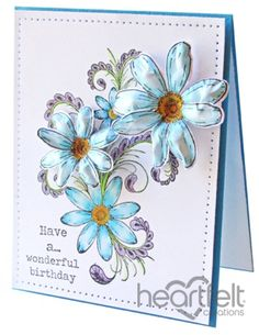 Heartfelt Creations | Blue Daisy Flourish