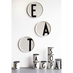 Plates & Mugs - Design Letters