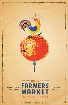 Lindsay Braun Poster for Hope Farmer's Market, Austin, TX