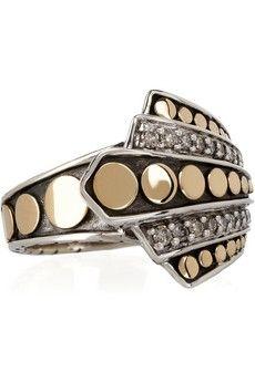 John Hardy|18-karat and sterling silver diamond ring|NET-A-PORTER.COM - StyleSays