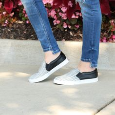 A pop of snake print takes the Madison slip-on sneaker to the next level of sport chic. | Dr. Scholl's Shoes | Sport