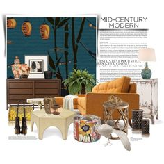 Gondola wallpaper... by gloriettequartet on Polyvore featuring interior, interiors, interior design, home, home decor, interior decorating, Thrive, Crate and Barrel, Puji and Missoni Home