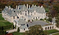 Oheka Castle - Huntington, New York;  Built by Otto Kahn, a financier and philanthropist, between 1914 and 1919, it remains the second largest private home in the United States, comprising 127 rooms and over 109,000 square feet. It is currently a historic hotel.  It's name is an acronym of its original owner's name, Otto HErman KAhn.