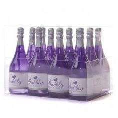 Purple wedding bubbles