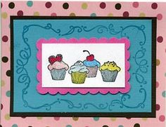 Great Impressions Stamps - December 2011 Stamp of the Month Diy Cards Stamps, Cupcake Card, Card Ideas, December, Cupcakes, Frame, Decor, Picture Frame, Decoration