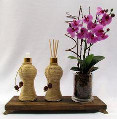 Kit Lavabo Rustico com Orquídea
