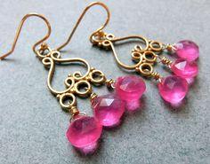 That's HOT Pink Chalcedony earrings http://www.etsy.com/listing/85881592/thats-hot-pink-chalcedony-earrings
