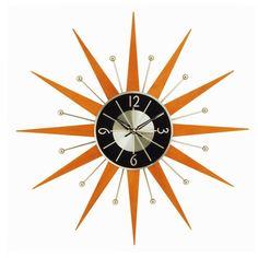 Unique Sunburst Clock For Save You Creative: cool crown sunburst clock for wall clock ideas and home accessories for wall decoration