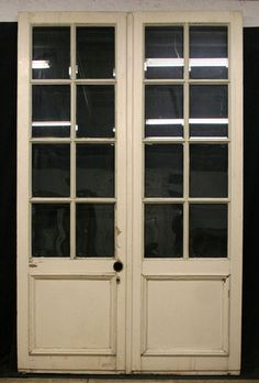 Mmm....something like this in the kitchen area leading to the deck. Antique  Douglas Fir French Double Doors Beveled Glass
