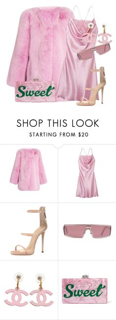 """""""sweet sweet"""" by bilgzzxo ❤ liked on Polyvore featuring Gucci, Giuseppe Zanotti, Christian Dior and Edie Parker"""