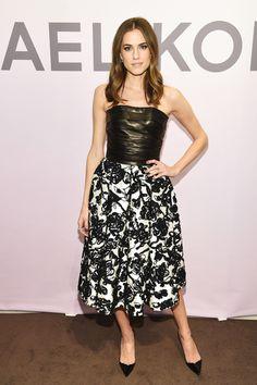 Allison Williams wears a Michael Kors dress at the Michael Kors Miranda Eyewear Collection Event on Feb. 18, 2015, in New York City.  -Cosmopolitan.com