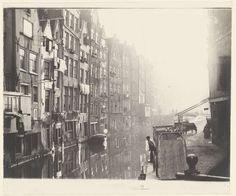 Het Kolkje en de Oudezijds Achterburgwal in Amsterdam, George Hendrik Breitner, 1894 - 1898