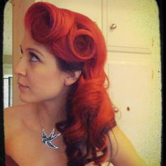Pin up hair... must learn how!!!