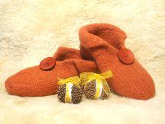 Felt Slippers Knitting Pattern by CreatedandFelted