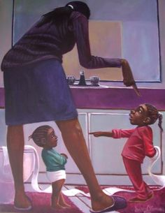 """""""She did it"""" by Lonnie Ollivierre."""