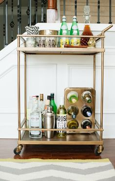 Kendal Rogers' Atlanta Townhome // photo by Callie Beale #theeverygirl // bar styling