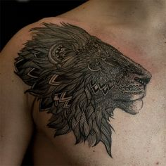 Tattoo by Cheo Park at East Side Ink in NY, NY / http://eastsideinktattoo.com #ink #tattoo #lion