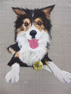embroidered dog - beautiful!