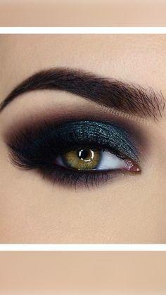 Teal Eye Makeup, Smoke Eye Makeup, Brown Smokey Eye Makeup, Smoky Eyeshadow, Hazel Eye Makeup, Makeup Looks For Green Eyes, Eyeshadow For Brown Eyes, Eye Makeup Art, Makeup For Green Eyes