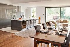 open plan kitchen diner