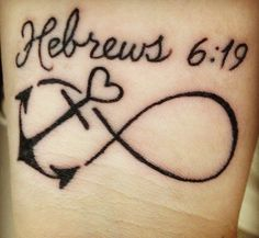 Not the infinity, but the anchor & verse! Hebrews 6:19<3