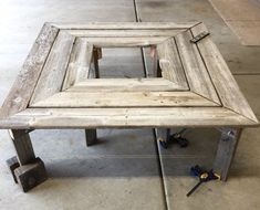 Using wood from a section of our fence that fell in a wind storm, I built a bench to circle our large maple tree in the back yard. Here are the weathered fenc…