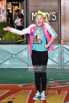 Jojo Siwa performs at Macy's Thanksgiving Day Parade Talent Rehearsals at Macy's Herald Square on November 2017 in New York City.