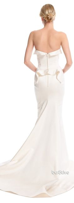 Zac Posen Geometric Duchess Gown