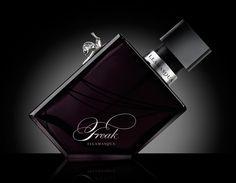 """""""Freak"""" fragrance bottle design by Propaganda for Illmasqua. Love the little snail on the bottle."""