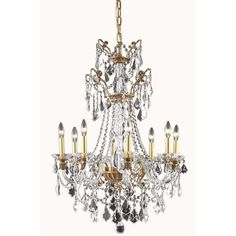 Imperial 8 Light Crystal Chandelier Finish: French Gold - http://chandelierspot.com/imperial-8-light-crystal-chandelier-finish-french-gold-588979584/