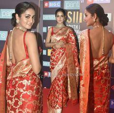 Indian Dresses, Indian Outfits, Indian Clothes, South Indian Sarees, Simple Sarees, Sari Blouse Designs, Pakistani Bridal Wear, Saree Dress, Saree Blouse