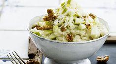 Risotto med gorgonzola, pærer og valnødder, opskrift på nemlig.com
