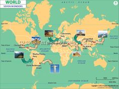 #Map Of Seven Wonders of the #World