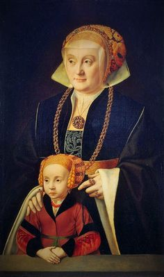 1530s Portrait of a Lady with her daughter by Bartholomäus Bruyn It's About Time: 1500s & 1600s Mothers with their Children - mostly Flemish, Dutch, English, & British American