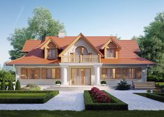 LK&414 - projekt domu jednorodzinnego w stylu dworkowym
