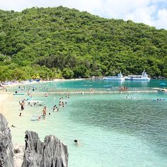 Head to Columbus Cove in Labadee for a day filled with water toys. This beach features the Arawak Aqua Park and Dragon's Splash Waterslide.
