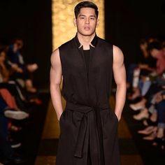 Philippines Fashion, Fashion Week 2018, Summer Collection, High Neck Dress, Spring Summer, Men Shirts, Instagram Posts, How To Wear, Black