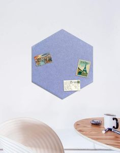 Hexagon Pinboard, Large in Peri Whiteboard, Wall Spaces, All Design, Fiber, Decals, Place Card Holders, Strong, Shapes, Texture