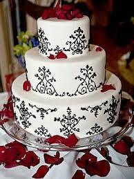 Resultado de imagen para decoraciones para fiestas de xv anos en blanco ,negro y rojo