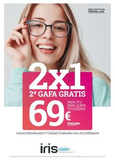 Campaña publicitaria para la cadena de ópticas IrisVision. ¡Esperamos que os guste! #diseñográfico #valencia #gafas