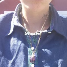She also has her fiancée's name on a necklace, which she showed off in a picture modelling Phoebe's clothing line.   Congrats! Ruby Rose Is Engaged To Phoebe Dahl